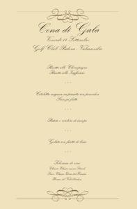 menu gala 14 settembre