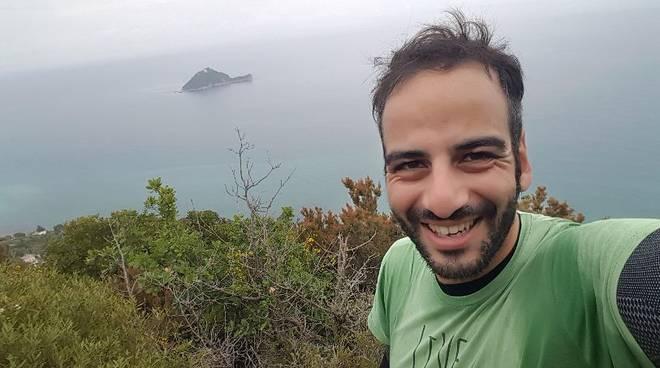 Valerio Campana al Tor des Géants con la maglia della nostra associazione